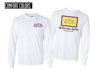 Delta Tau Delta Flag Long Sleeve T-shirt - Comfort Colors
