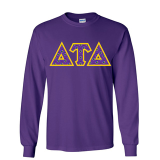 Delta Tau Delta Fraternity Crest - Shield Twill Letter Longsleeve Tee