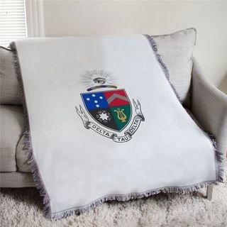 Delta Tau Delta Full Color Crest Afghan Blanket Throw