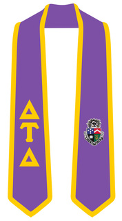DISCOUNT-Delta Tau Delta Greek 2 Tone Lettered Graduation Sash Stole