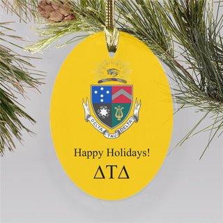 Delta Tau Delta Holiday Color Crest - Shield Ornament