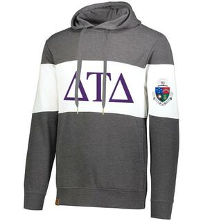 Delta Tau Delta Ivy League Hoodie W Crest On Left Sleeve