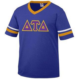 DISCOUNT-Delta Tau Delta Jersey With Greek Applique Letters