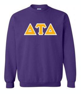 Delta Tau Delta Sewn Lettered Crewneck Sweatshirt
