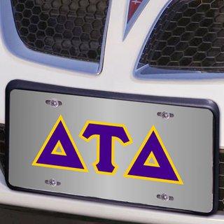 Delta Tau Delta Lettered License Cover