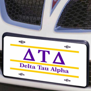 Delta Tau Delta Lettered Lines License Cover