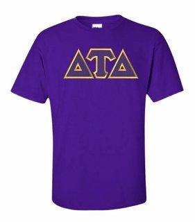 Delta Tau Delta Lettered T-shirt - MADE FAST!