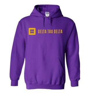 Delta Tau Delta Logo Hooded Sweatshirt
