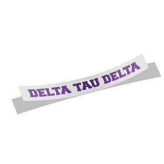 Delta Tau Delta Long Window Sticker