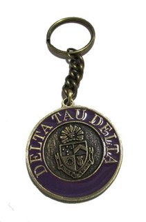 Delta Tau Delta Metal Fraternity Key Chain