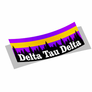 Delta Tau Delta Mountain Decal Sticker