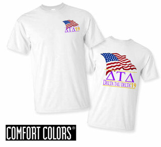 Delta Tau Delta Patriot  Limited Edition Tee - Comfort Colors