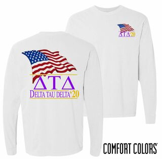Delta Tau Delta Patriot Long Sleeve T-shirt - Comfort Colors