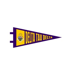 """Delta Tau Delta Pennant Decal 4"""" Wide"""