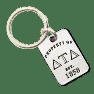 Delta Tau Delta Property of Tag Keychain