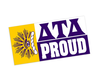Delta Tau Delta Proud Bumper Sticker - CLOSEOUT
