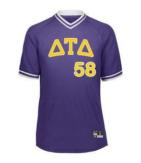 Delta Tau Delta Retro V-Neck Baseball Jersey