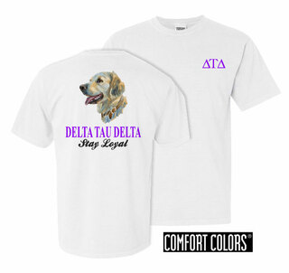 Delta Tau Delta Stay Loyal Comfort Colors T-Shirt