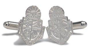Delta Tau Delta Sterling Silver Crest Cufflinks