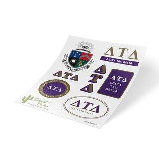 Delta Tau Delta Traditional Sticker Sheet