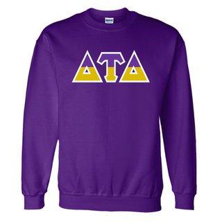 Delta Tau Delta Two Tone Greek Lettered Crewneck Sweatshirt