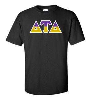 Delta Tau Delta Two Tone Greek Lettered T-Shirt