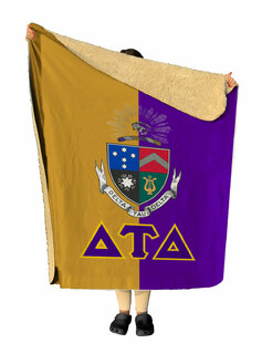Delta Tau Delta Two Tone Two Tone Sherpa Lap Blanket