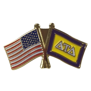 Delta Tau Delta USA Flag Lapel Pin
