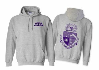 Delta Tau Delta World Famous Crest - Shield Printed Hooded Sweatshirt- $35!