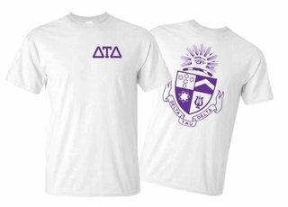 Delta Tau Delta World Famous Greek Crest T-Shirts - MADE FAST!
