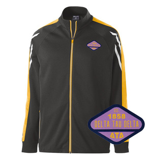 DISCOUNT-Delta Tau Delta Woven Emblem Greek Flux Track Jacket