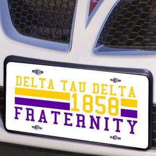Delta Tau Delta Year License Plate Cover