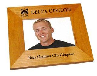 """Delta Upsilon 4"""" x 6"""" Crest Picture Frame"""