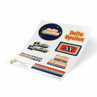 Delta Upsilon 70's Sticker Sheet