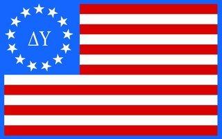 Delta Upsilon American Flag Sticker