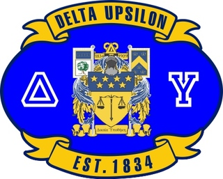 Delta Upsilon Banner Crest - Shield Decal