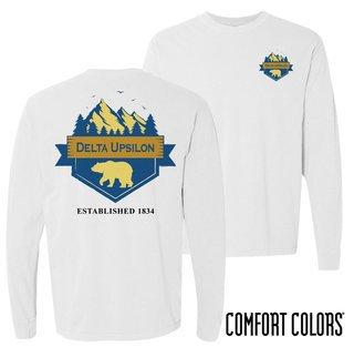 Delta Upsilon Big Bear Long Sleeve T-shirt - Comfort Colors