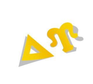 Delta Upsilon Big Greek Letter Window Sticker Decal