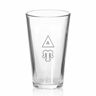 Delta Upsilon Big Letter Mixing Glass