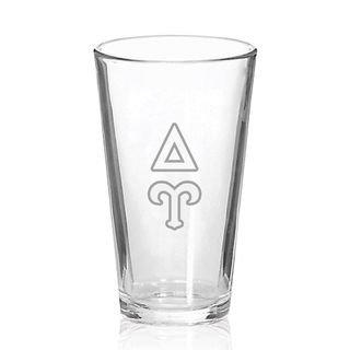Delta Upsilon Big Letter Mixing Glass