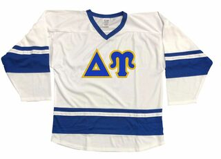 DISCOUNT-Delta Upsilon Breakaway Lettered Hockey Jersey