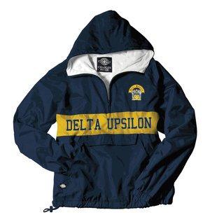 Delta Upsilon Charles River Custom Stripe Greek Pullover Anorak