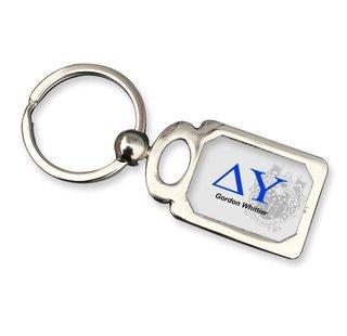 Delta Upsilon Chrome Crest Key Chain