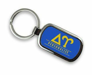 Delta Upsilon Chrome Custom Keychain