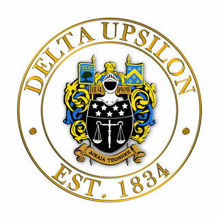 Delta Upsilon Circle Crest - Shield Decal