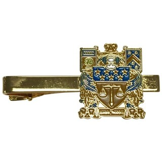 Delta Upsilon Color Crest - Shield Tie Clips