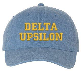 Delta Upsilon Comfort Colors Pigment Dyed Baseball Cap