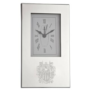 Delta Upsilon Crest Desk Clock