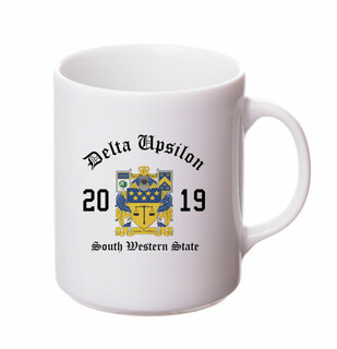 Delta Upsilon Crest & Year Ceramic Mug