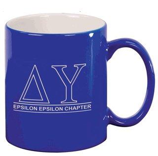 Delta Upsilon Custom Ceramic Coffee Mug